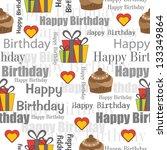 happy birthday seamless | Shutterstock .eps vector #133349864