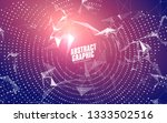 abstract graphic consisting of... | Shutterstock .eps vector #1333502516