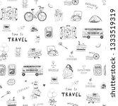 travel illustrations doodle...   Shutterstock . vector #1333519319