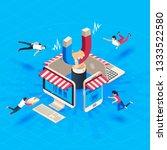 web store customer attraction.... | Shutterstock . vector #1333522580