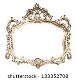 vintage picture frame over... | Shutterstock . vector #133352708