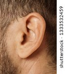 human ear  close up shot  or... | Shutterstock . vector #1333532459