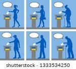 ukrainian citizens voting for... | Shutterstock .eps vector #1333534250