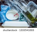 recyclable and reusable plastic ... | Shutterstock . vector #1333541003