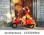 vintage image of young... | Shutterstock . vector #133354964