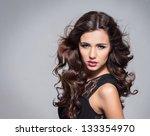 beauty portrait of young... | Shutterstock . vector #133354970