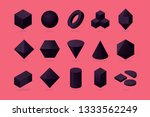 set of 3d object. basic... | Shutterstock .eps vector #1333562249