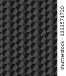 black pentagon geometric... | Shutterstock .eps vector #1333571720