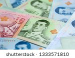 banknotes of the tailand  new... | Shutterstock . vector #1333571810