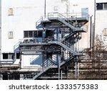 steel stairs of industrial... | Shutterstock . vector #1333575383