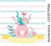 empty spring card template.... | Shutterstock .eps vector #1333579586
