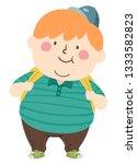 illustration of a fat kid boy... | Shutterstock .eps vector #1333582823