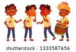 indian boy kindergarten kid...   Shutterstock . vector #1333587656