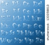 glass alphabet | Shutterstock .eps vector #133358813