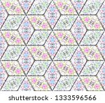 colorful seamless rhombus... | Shutterstock . vector #1333596566