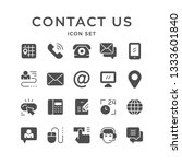 set icons of contact us | Shutterstock .eps vector #1333601840