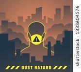 dust hazard illustration | Shutterstock .eps vector #1333604576