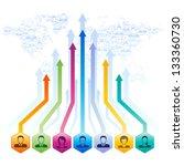 social media concept vector... | Shutterstock .eps vector #133360730