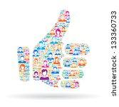 thumb up   Shutterstock .eps vector #133360733