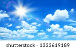 sunny background  blue sky with ... | Shutterstock . vector #1333619189