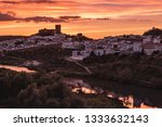 sunset in mertola  village of... | Shutterstock . vector #1333632143