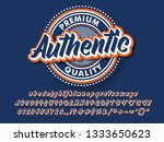 authentic logo type for product ... | Shutterstock .eps vector #1333650623