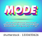 3d strong and sharp font ... | Shutterstock .eps vector #1333650626