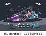 racing car of f1 vector... | Shutterstock .eps vector #1333654583