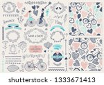 vector hand drawn doodle love...   Shutterstock .eps vector #1333671413