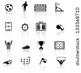 soccer  football icons | Shutterstock .eps vector #133368710