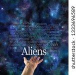 are you alien aware word cloud ... | Shutterstock . vector #1333696589
