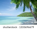 view of nice tropical beach... | Shutterstock . vector #1333696679