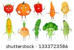 Cartoon Vegetable Character....