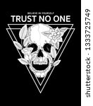trust no one slogan graphic ... | Shutterstock .eps vector #1333725749