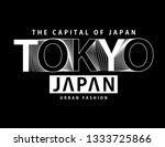 tokyo typography graphic design ... | Shutterstock .eps vector #1333725866