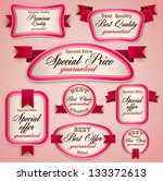 set of superior quality and... | Shutterstock .eps vector #133372613