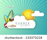 summer holidays background with ... | Shutterstock .eps vector #133373228