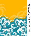 creative summer background... | Shutterstock .eps vector #133373234