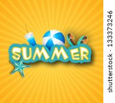 summer background with flip... | Shutterstock .eps vector #133373246