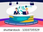 tv live news show host... | Shutterstock .eps vector #1333735529