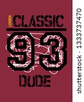 london classic dude t shirt... | Shutterstock .eps vector #1333737470