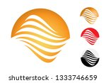 abstract round symbol isolated... | Shutterstock .eps vector #1333746659