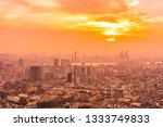 beautiful landscape and... | Shutterstock . vector #1333749833