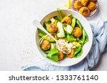 vegan salad with beans... | Shutterstock . vector #1333761140