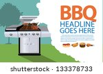 barbecue background. eps 8... | Shutterstock .eps vector #133378733