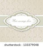 vintage frame. retro floral...   Shutterstock .eps vector #133379048