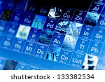 periodic table of elements and... | Shutterstock . vector #133382534
