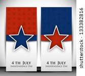 4th of july happy independence... | Shutterstock .eps vector #133382816
