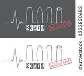 board addicted heart rhythm... | Shutterstock .eps vector #1333830683
