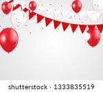 glossy happy birthday balloons... | Shutterstock .eps vector #1333835519